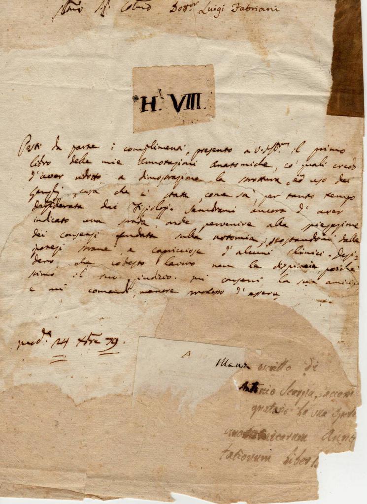 Antionio Scarpa autografo originale